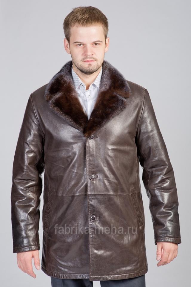 Скидка на мужские кожаные куртки на мутоне