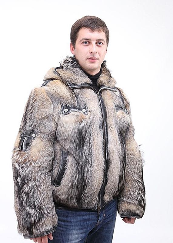 Мужские куртки из меха шакала